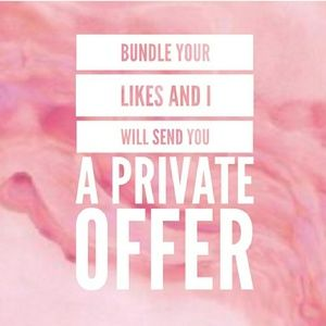 Bundle your items for a deal you cannot refuse! 💕